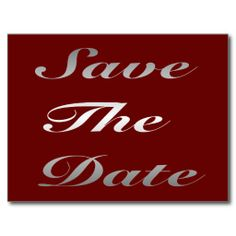 modern save the date 50th birthday party gray red postcard 50