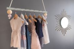 Wall Mounted Clothing Rack Diy Clothes Rack In 2019 Our Top 12 Projects Diyformula with ucwords] Hanging Clothes Drying Rack, Hanging Racks, Diy Hanging, Clothes Hanger, Wall Mounted Clothing Rack, Clothing Racks, Clothing Stores, Kids Clothing, Diy Clothes Rack Cheap