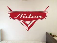 Personalized Disney Cars Inspired Vinyl Sticker Decal for Childs Bedroom Great Sizes and Colors to Choose From Chevrolet Lightning McQueen by DecktheWalls7 on Etsy https://www.etsy.com/listing/267815035/personalized-disney-cars-inspired-vinyl