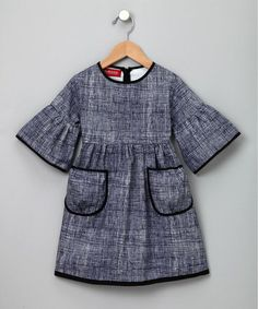 love grey for little girls...& the black piping! swoon...