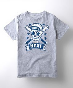 Look at this Sporteez Athletic Heather 'Bring the Heat' Tee - Kids on #zulily today!