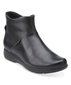 Another great find on #zulily! Black Idella Casey Leather Low Boot #zulilyfinds