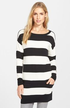 Caslon® Two Pocket Knit Tunic (Regular & Petite) available at #Nordstrom