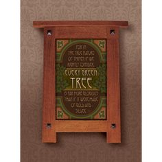 Arts and Crafts Framed Print. Tree subject. by MissionStatements