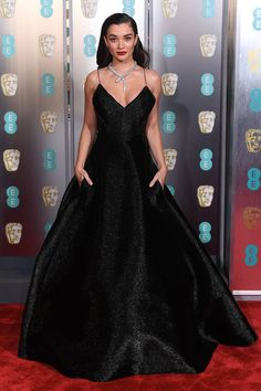 c4cb3d447c05 Frothy ruffled details dominate the BAFTAs red carpet as Margot Robbie and  Kate Middleton opt for the romantic style