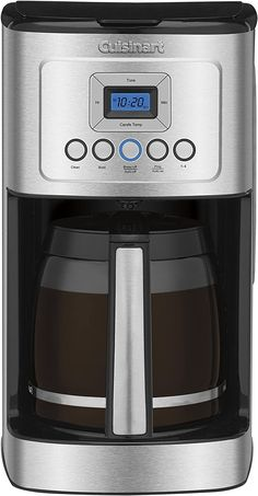 Looking for Cuisinart Glass Carafe Stainless Steel Handle Programmable Coffeemaker, Graphite ? Check out our picks for the Cuisinart Glass Carafe Stainless Steel Handle Programmable Coffeemaker, Graphite from the popular stores - all in one. Best Drip Coffee Maker, Pod Coffee Makers, Coffee Pods, Espresso Maker, Espresso Machine, Coffee Brewer, Coffee Coffee, Coffee Percolator, Nitro Coffee