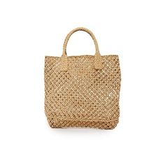 Hat Attack Macrame Small Tote (1.160 ARS) ❤ liked on Polyvore featuring bags, handbags, tote bags, toast, crochet tote bag, straw purse, tote handbags, straw tote bags and woven tote bags