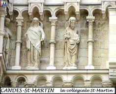 37CANDES collegiale -84) LE PORCHE SEPTENTRIONAL: La représentation majestueuse sur l'émail du comte Geoffroy le Bel et l'inscription en forme panégyrique au-dessus de sa tête -ense tvo princeps predorum turba fugator eccle(s)hsq(ue) quies pace vigente datur- fait écho, en l'amplifiant, à la description qu'en donnent la chronique angevine de la seconde moitié du XII°s.