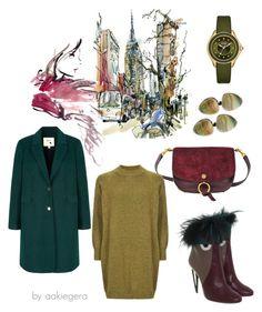 """Follow the city"" by aakiegera on Polyvore featuring мода, Yumi, Michele, Chloé, Viktoria Hayman и Fendi"