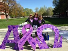 Alpha Chi Omega at Boise State University says #TheseHandsDontHurt and #NoMore during #SAAM