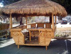 Nipa Hut Design in the Philippines - Cebu Image Lifestyle Bahay Kubo Design Philippines, Philippines Cebu, Bamboo House Design, Gazebo Pergola, Garden Gazebo, Bamboo Structure, Bamboo Construction, Architectural Design House Plans, Bamboo Architecture
