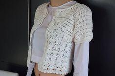 wedding crochet bolero white evening bolero Crochet Sweater