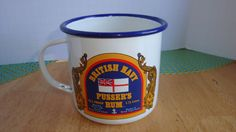 BRITISH NAVY PUSSER'S RUM TRADITIONAL TOASTS  ENAMELED CUP