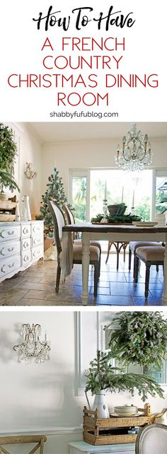 In the dining room this year I'm keeping it somewhat simple with a rustic French country feel. You might be surprised if you are new here that I don't live in France and I don't live in the country, but I decorate with what I love. #christmas #design #decor