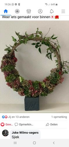 Grapevine Wreath, Grape Vines, Flower Arrangements, Workshop, Wreaths, Autumn, Winter, Garden, Flowers