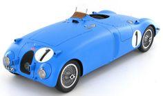 1:18 model of the Bugatti 57C 'Tank' as it won the 1939 Le Mans race in the hands of Jean Pierre Wimille - Pierre Veyron.