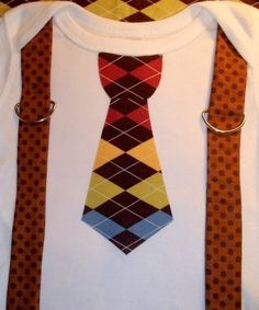 Fall Tie and Suspenders onsie by CutieBootieBoutique on Etsy