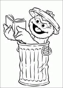 Oscar the Grouch coloring pages free at Kids Fun and Games | Books ...