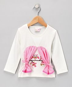 Take a look at this White Peek-A-Hoo Top - Girls by 4Ever Princess on #zulily today!
