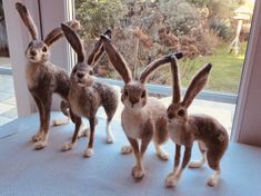 Easy Healthy Dating tips - First Dating tips - Dating tips For Boys - Healthy Dating tips For Beginners - Dating tips For Women Quotes - Needle Felted Animals, Felt Animals, Needle Felting, Rabbit Sculpture, Jack Rabbit, Summer Coats, Light Covers, Felt Art, Felt Crafts