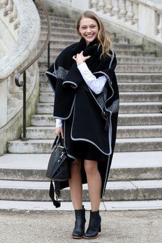 Ultrachic Winter wear  - Model #Streetstyle at Paris Fashion Week #PFW