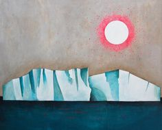 Lisa Congdon Iceberg 11x17 Archival Art Print by lisacongdon
