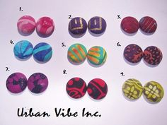 New Urban Spring Summer Button Earring Pick Your by snchastang25, $7.00