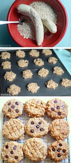 Healthy Breakfast Cookies (made with just bananas and oats!) -- Quick, fast and easy breakfast recipe ideas for a crowd (brunches and potlucks)! Some of these are make ahead, some are healthy, and some are simply amazing! Everything from eggs to crockpot casseroles! Your mornings just got a little better. Listotic.com