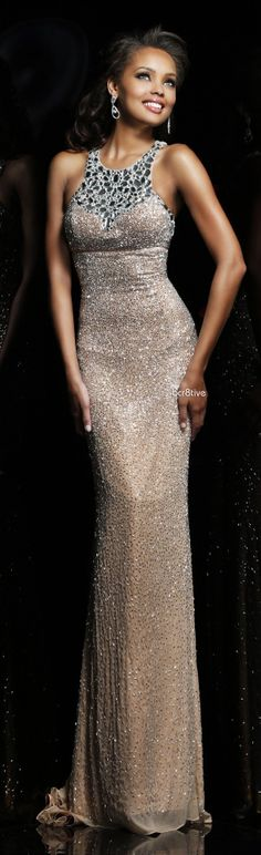 Sherri Hill 11095 Love the dual textures of this gown