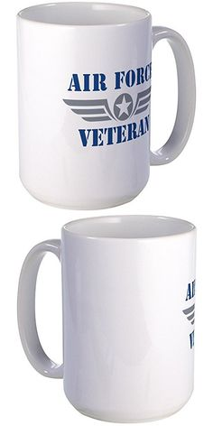 CafePress - Air Force Veteran - Coffee Mug, Large 15 oz. White Coffee Cup