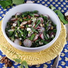 crunchy green bean, radish and walnut salad with goat feta @Patty Price / Patty's Food