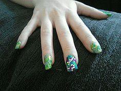 Camo nails I did.