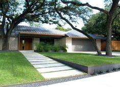 ideas for modern front yard design Modern Front Yard, Front Yard Design, Front Yard Fence, Front Yards, Modern Fence, Patio Fence, Fence Garden, Garden Modern, Modern Patio