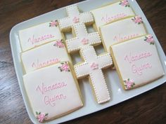 Sweet cookies for a baby girl's baptism!