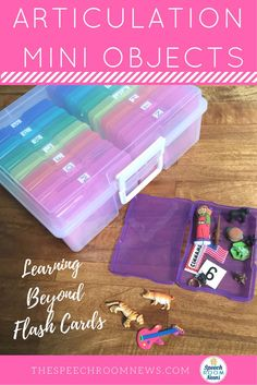 Articulation Mini Objects Box - Where to find the Organizer plus cheap trinkets! Great for play-based tx and sensory bins!