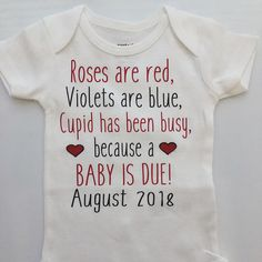 Valentine's Day Pregnancy Announcement Idea Pregnancy