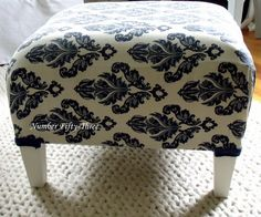 Number Fifty-Three: Updating the Outdated {Ottoman Reupholstering}