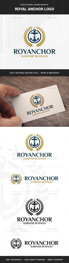 Royal Anchor Logo Template - Objects Logo Templates Download here : http://graphicriver.net/item/royal-anchor-logo-template/15682697?s_rank=267&ref=Al-fatih