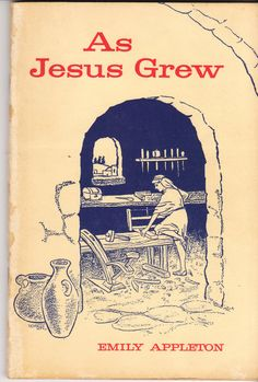 As Jesus Grew 1962 Emily Appleton Vintage Sunday School Workbook by BirdhouseBooks on Etsy