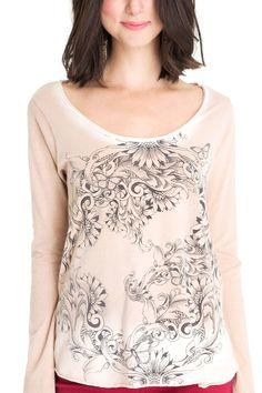 Blusa manga longa silk flores | Dress to