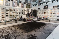 STEFFL Department Store Vienna - Sneaker Gallery  Credit: Maximilian Salzer Photography Department Store, Vienna, Sneaker, Photo Wall, Flooring, Gallery, Photography, Home Decor, Slippers