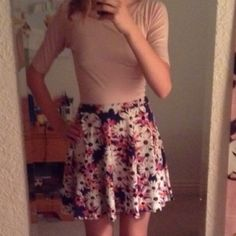 Floral skater skirt Nordstrom juniors This is lightly worn skirt from Nordstrom juniors. It fits a size a S or S/M. (The tag is cut off because I like to roll it down worn) Lily White Skirts Circle & Skater
