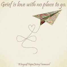 Grief is love with no place to go.