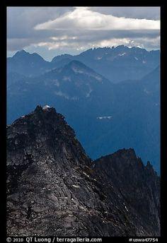 Lookout perched on top of Hidden Lake Peak. Washington