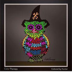 Colorful owl @nursey_91