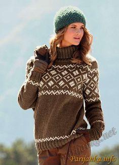 Пуловер c жаккардом и шапка (ж) 426 и 427 Creations 11/12 BDF №1844