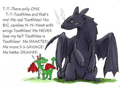 Book and movie toothless