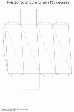 desarrollo plano de un prisma rectangular torcido