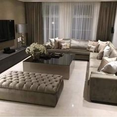 New Home Decoracin Ideas Living Room Apartment Tvs Ideas Living Room Decor Cozy, Elegant Living Room, Home Living Room, Home Room Design, Home Interior Design, Living Room Designs, Flur Design, Sofa Design, Living Room Flooring