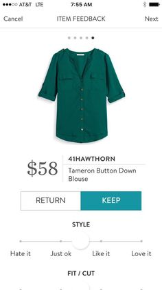 I have this blouse in navy and love it. #affiliate #stitchfix